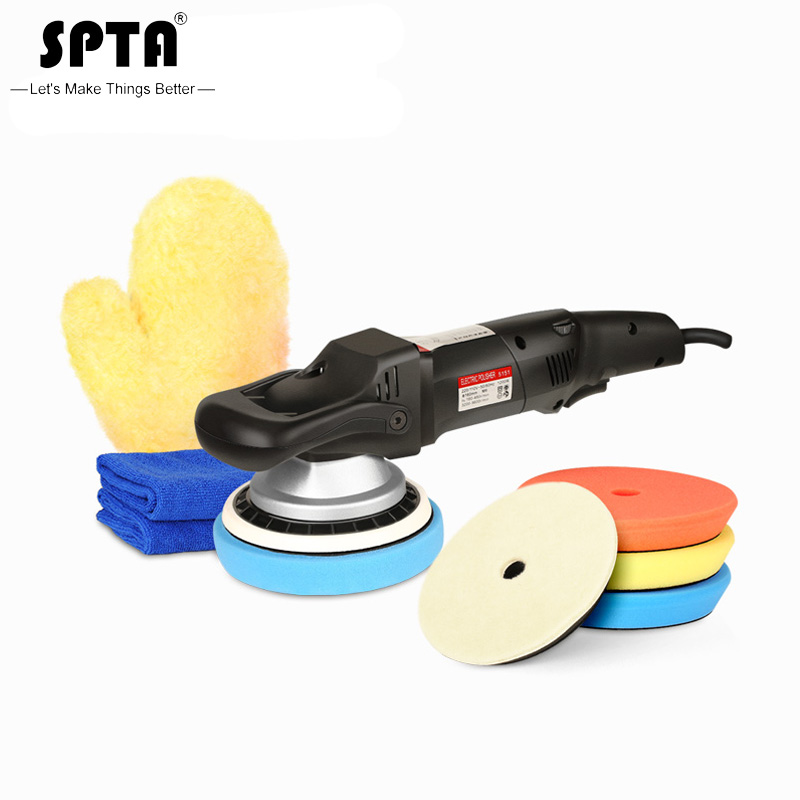 SPTA 5inch /6 Inch Forced Rotation Dual Action Polisher, DA Polisher Car Polisher & Polishing Pads