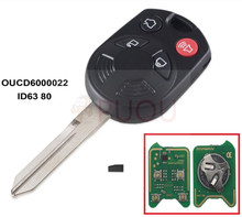 Car Key Remote for Ford Escape Edge  ID63 Chip 80 315MHz Keyless shell Entry Combo FOB OUCD6000022
