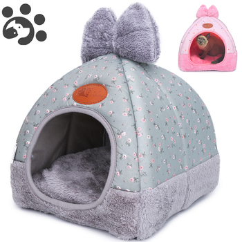 Dog Cat Beds for Small Medium Pet, Cat Bed Dogs Beds Nest House for Dog Sofa Warming Dogs House Winter Kennel for Puppy BD0153 image