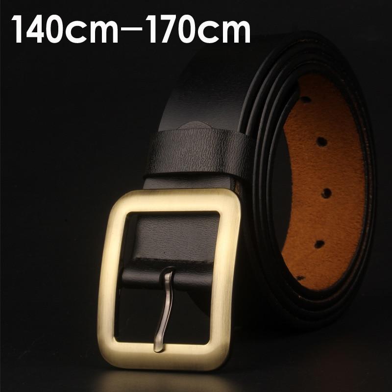 Men's Lengthening Antique Belt 170cm Copper Gold Pin Buckle Belts Large Size Fat Pants Belt Luxury Quality Designer Belts Men
