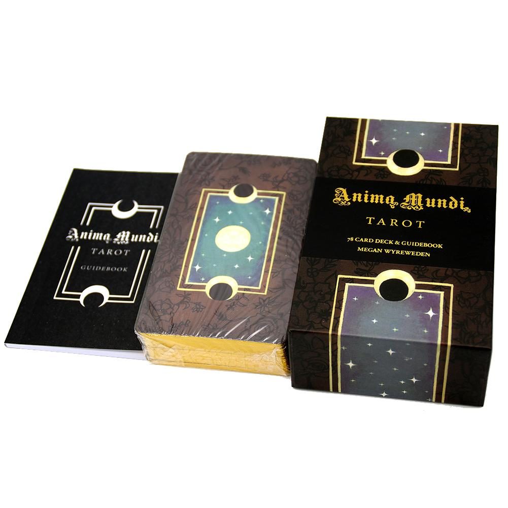 Колода Таро Anima Mundi с 78 карточками, колода с направляющей, колода природы, карты для окуляции, гадания, основная и малая игра Аркана, позолочен...