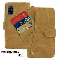 На Алиэкспресс купить чехол для смартфона vintage leather wallet elephone e10 case 6.5дюйм. flip luxury card slots cover magnet phone protective cases bags