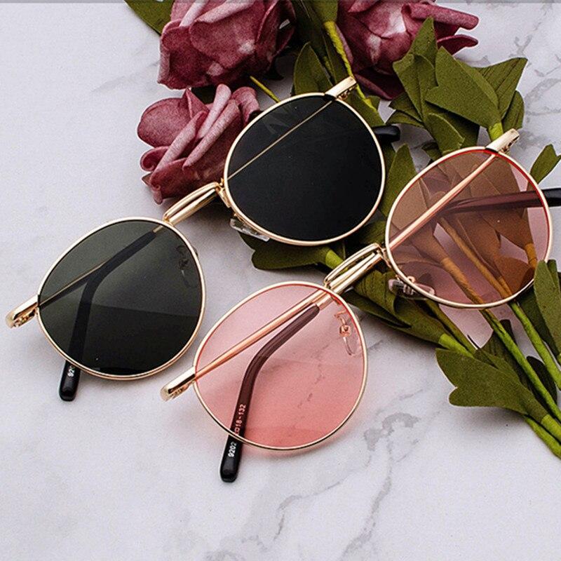 Солнцезащитные очки с прозрачными линзами в металлической оправе для мужчин и женщин, зеркальные круглые Поляризационные солнечные очки ...