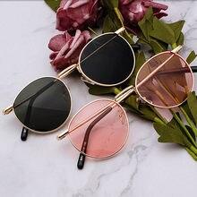Lente clara armação de metal óculos de sol retro mulher amarelo preto masculino espelho óculos de sol redondo ouro polarizado uv400 motorista