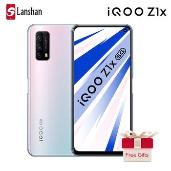 Перейти на Алиэкспресс и купить Новейший vivo 5G IQOO Z1x 6GB 128GB Celular Snapdragon 76 5G 48MP Тройная задняя камера 6,57 ''120Hz гоночный экран Android смартфон