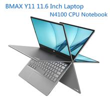 BMAX Y11 11.6 Inch Press Screen 2 in 1 Laptop, N4100 CPU 8GB RAM 256GB ROM SSD DDR4 1080P Ultra-Thin Notebook with EU,US,UK Plug