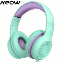 Mpow CH6 Wired Kids Headphones Foldable Adjustable Wired Headset With 3.5mm Audio Jack Microphone For Children For iPod