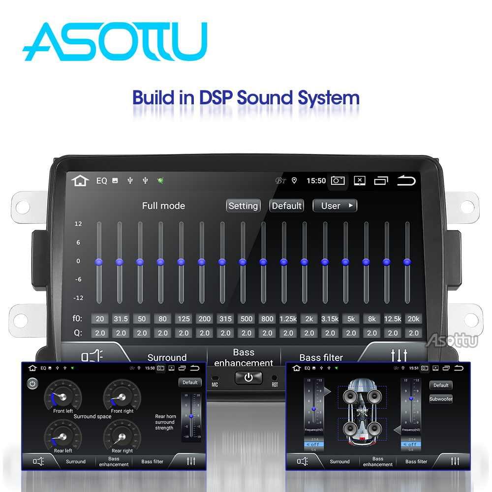 Asottu PX30 Android 9.0 Mobil DVD untuk Renault Duster Dacia Sandero Captur Lada Xray 2 Logan 2 GPS Navigasi Mobil gps Bermain