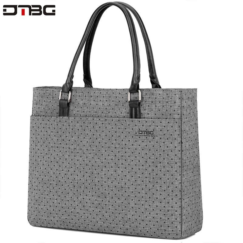 DTBG Summer Fashion Briefcase Laptop Handbags Women Bag High Quality Casual Laptop Briefcase Messenger Ladies Briefcase