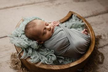 Newborn Photography Props Crescent Baby Posing Container Wooden Infant Photo Shoot Accessories New Type Moon Shape