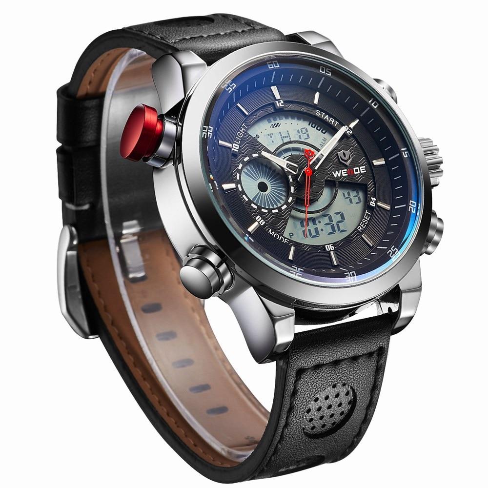 H5be32dbd24eb48dc8e7b6a20999f545dO Weide watch Men Luxury Top Brand Quartz Watch Fashion Business Male Watch Shockproof Luminous Wristwatch