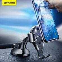 Baseus Gravity uchwyt samochodowy na telefon iPhone 12 11 Pro Max uniwersalny przyssawka Auto uchwyt do telefonu stojak na Xiaomi Samsung
