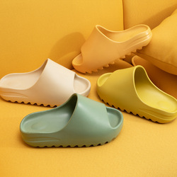 Männer & Frauen Paar Verdicken Sommer Sandalen Hausschuhe Weibliche Einfarbig Hause Indoor Schuhe Gezackten Rand Atmungs Flip-Flops