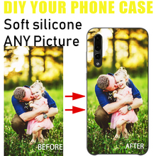 Custom Personalized Huawei  P30 phone case Make your Photo pattern Silicone Black Sotf TPU Cover For p20 p10 p8 p9 lite series