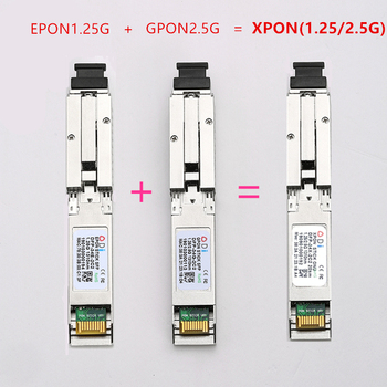 E/GXPON SFP ONU Stick With MAC SC Connector DDM pon module 1.25/2.5G XPON/EPON/GPON( 1.244Gbps/2.55G)802.3ah 1490/1330nm