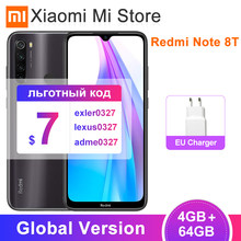 Global Version Xiaomi Redmi Note 8T 4GB RAM 64GB ROM NFC Mobile Phone 48MP Quad Rear Camera Snapdragon 665 Octa Core 4000mAh(China)