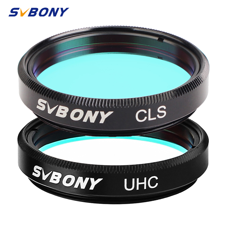 SVBONY 1.25'' UHC +CLS  2 Pcs Elimination Of Light Pollution Filters For Astronomy Telescope  Eyepiece Observations Of Deep Sky
