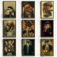 Blinders-Poster Painting Wall-Stickers Home-Decor British Peaky Crime Drama Retro High-Score