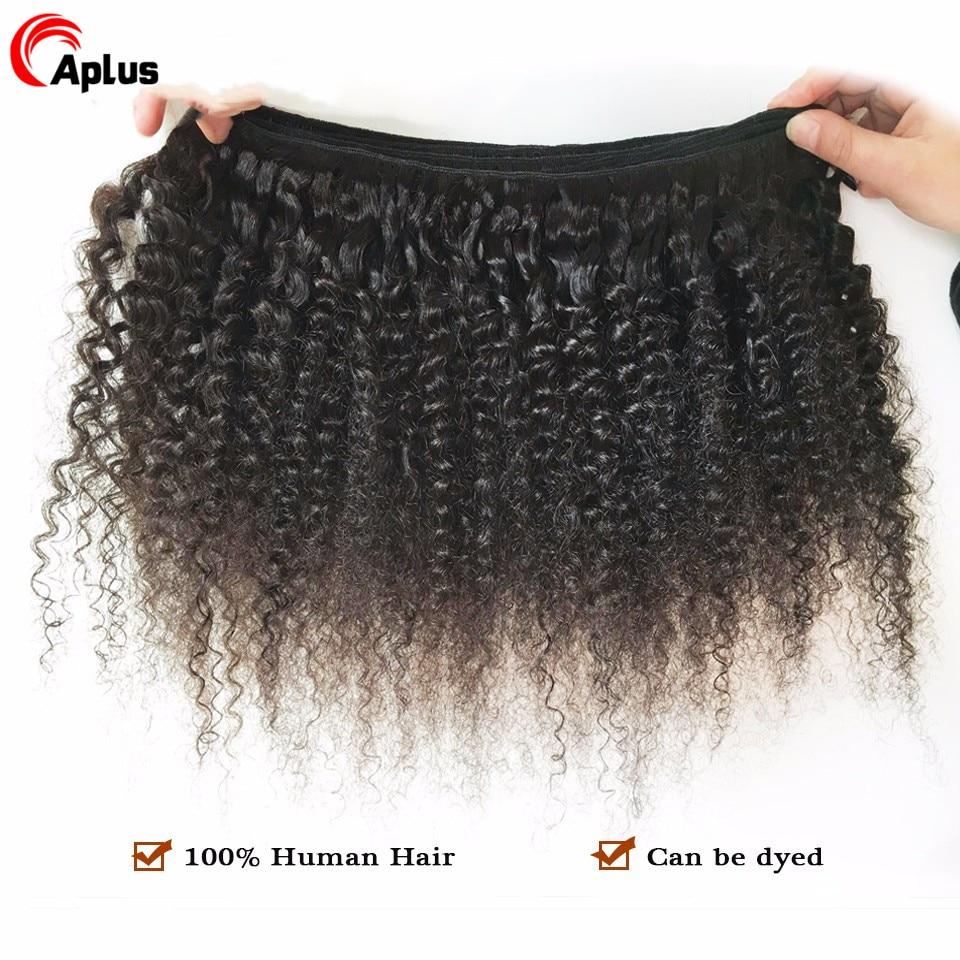 Mongol-Afro-cr-pus-boucl-s-paquets-100-cheveux-humains-boucl-s-paquets-Remy-3-4
