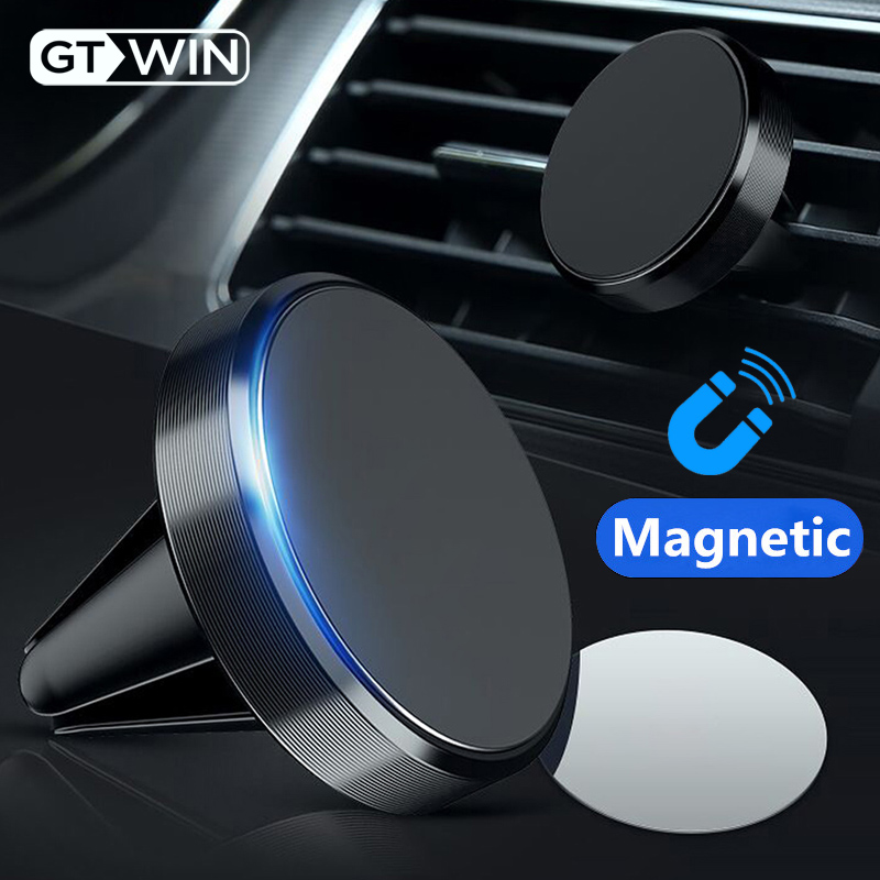 GTWIN Magnetic Car Phone Holder Mini Air Vent Clip Mount Magnet Mobile Stand For iPhone 11 Xiaomi Support Cell Holder in Car GPS