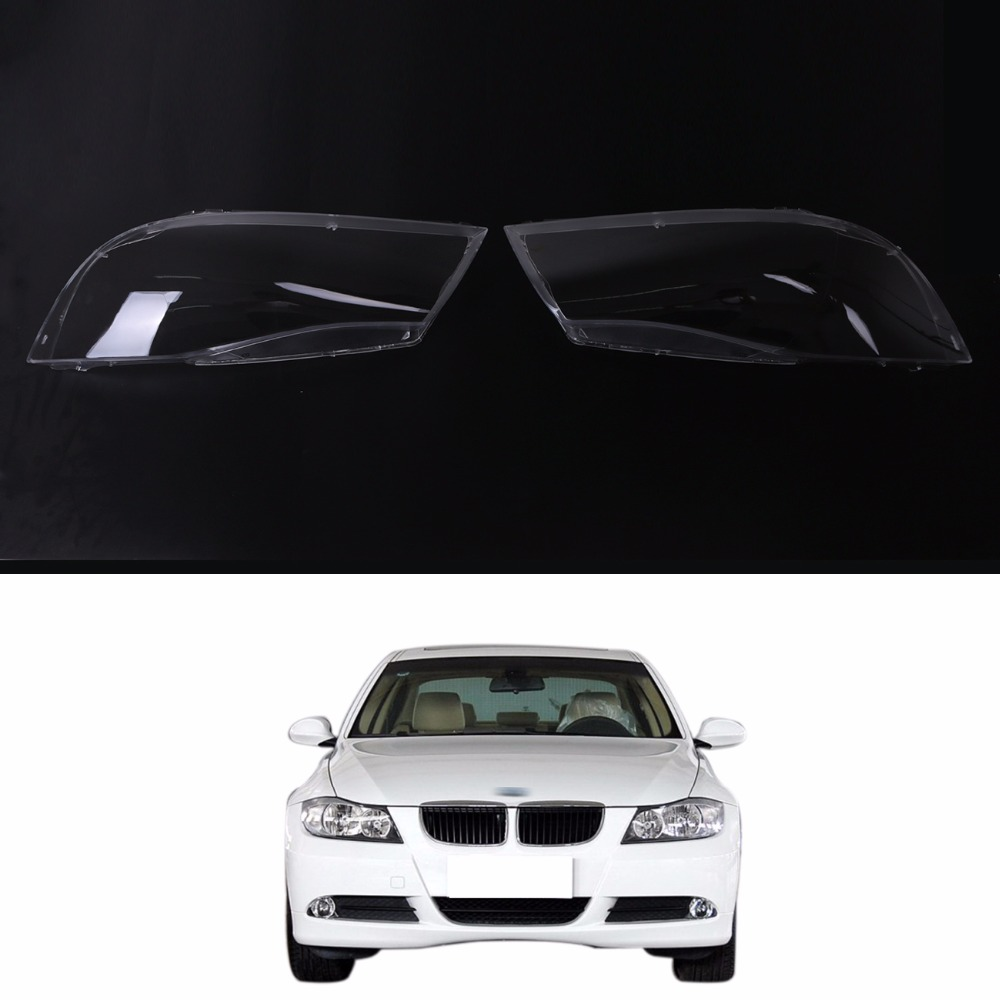 For BMW E90 Sedan Touring 2005-2008 Car Headlight Clear Left Right Side Halogen Transparent Lens Plastic Shell Cover Replacement