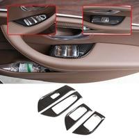 Carbon Fiber ABS Window Lift Switch Button Frame Trim For Mercedes Benz E Class W213 2016 2019 Car Accessories