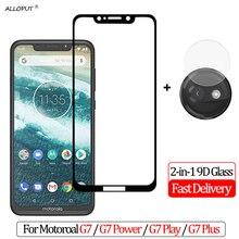 купить 9D Camera Glass For Moto G7 Power Screen Protector Protective Film For Moto G7 Plus Tempered Glass For G7 Play Screen Protector дешево