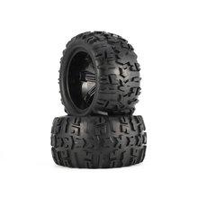 4 pçs roda aro e pneus 150mm para 1/8 monster truck traxxas hsp hpi E MAXX fluxo selvagem corrida rc modelo de carro brinquedos