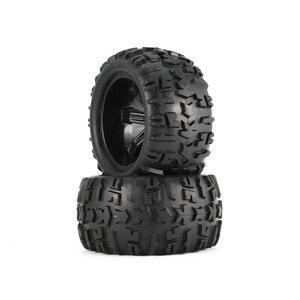 Image 1 - 4Pcs Felge und Reifen 150mm für 1/8 Monster Truck Traxxas HSP HPI E MAXX Savage Flux Racing RC auto Modell Spielzeug
