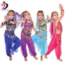 Детский набор костюма для танца живота Восточный танец Детские платья Индийский танец живота одежда танец живота дети Индийский 6 цветов