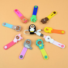 New Creative Cartoon Headphone Data Cable Holder Button-type Button Winder Cute Animal Line Cable Winder laser personalized cable tie with button finishing cable winder pvc transparent data line headphone cable winder cord organizer