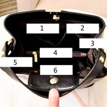 Retro Bucket Pattern Handbag Crocodile Bags Purse SF