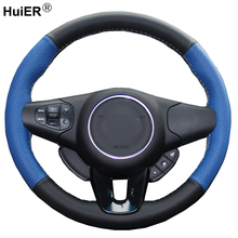 DIY Car Steering Wheel Cover Volant Funda Volante Volant For Kia Carens 2013 2014 2015 2016 2017 2018 2019 Auto Car Protector