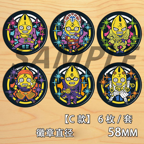 Anime JoJ's Bizarre Adventure Golden Wind Giorno Giovanna Narancia Bedge Cartoon Backpacks Bags Badges Button Brooch Pin C