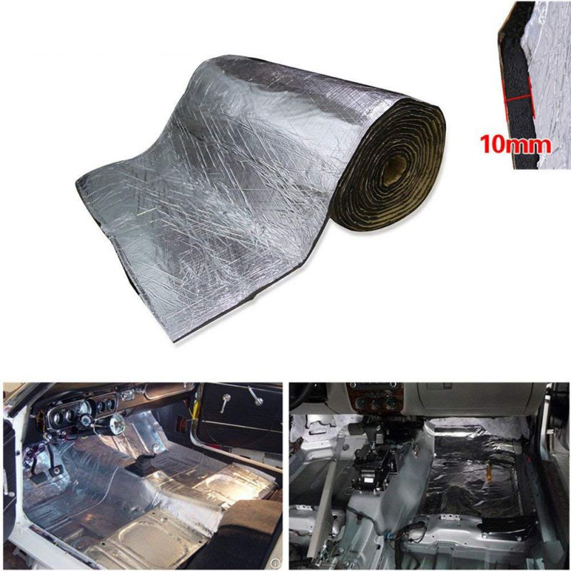 1PCS 5mm/10mm Car Truck Firewall Heat Sound Insulation Mat Sound Noise Insulation Heat Sound Thermal Proofing Pad 50*200cm