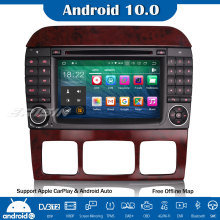 Dvd-Player Android 10.0 W220 S500 Autoradio Navi Car-Stereo Carplay Mercedes-Benz Erisin