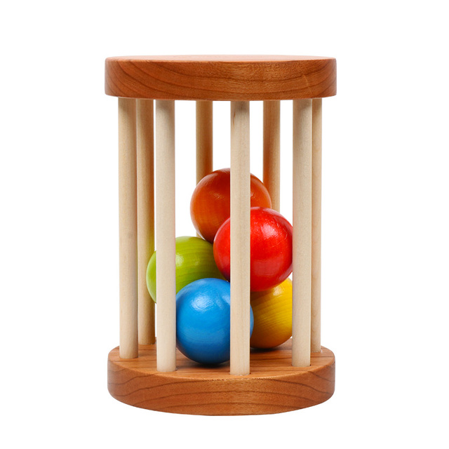 Organic Cherry Wood Rattle