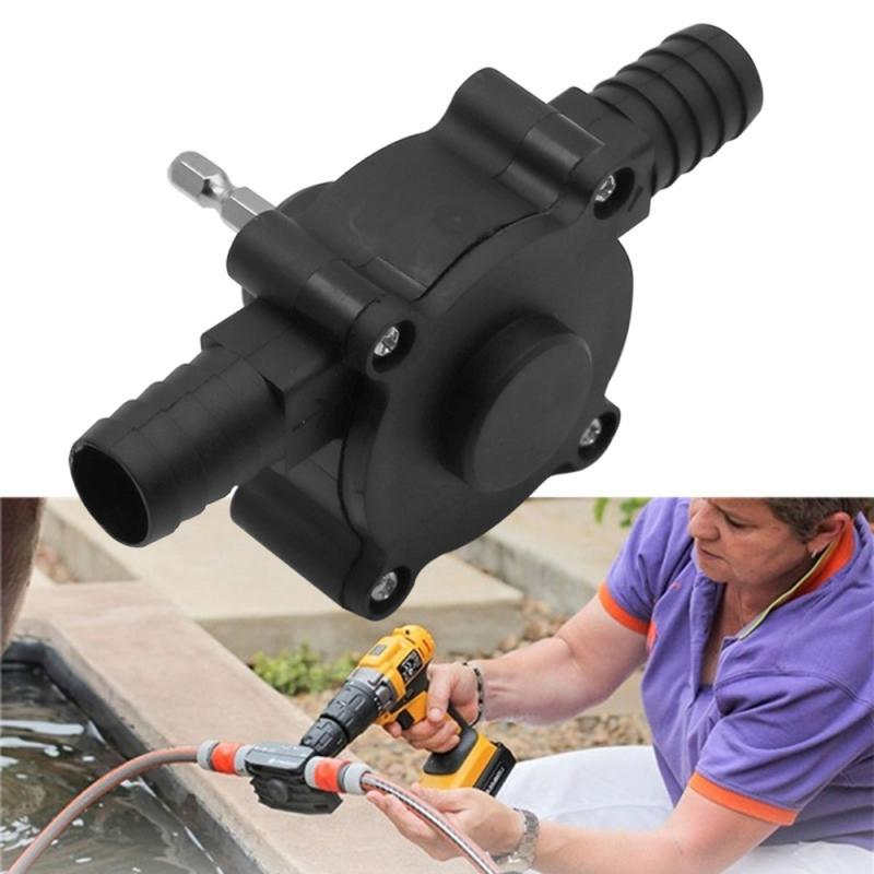 Portable Electric Drill Pump Water Mini Hand Self Pump Hand Drill Pump Portable DC Pump Self-priming Centrifugal Pump With Shelf