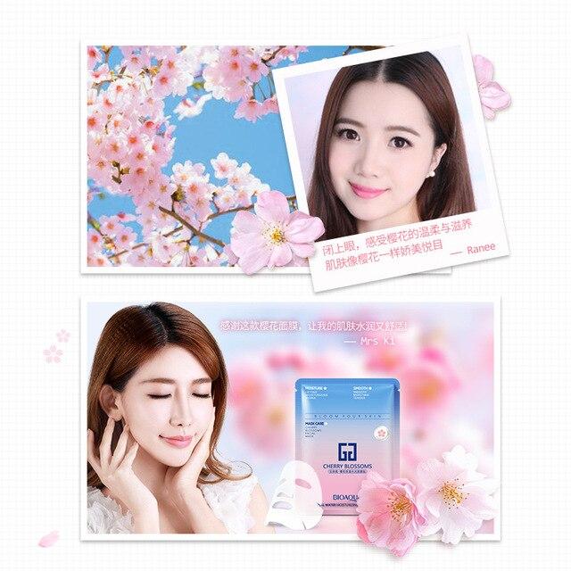 BIOAQUA Cherry Blossoms Sakura Facial Mask 4