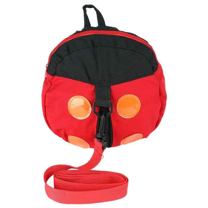 Piękny Cartoon Bat biedronka torba zapobiegająca zgubieniu dla dzieci maluch Anti-lost smycz szelki pasek chodzik dla dzieci dla dzieci plecak do przedszkola plecak