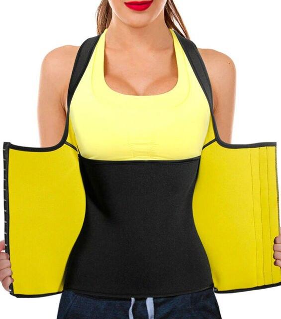 2020 Plus Size Women Neoprene Hot Vest Shaper Gym Sauna Sweat Thermal Belt Girdle Tank Top Ladies Half Body Shaper Bra S-6XL