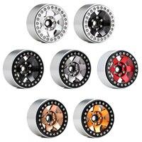 INJORA 4PCS Metal 6 Spokes 1.9 Beadlock Wheel Hub Rim for 1/10 RC Crawler Axial SCX10 90046 AXI03007 Traxxas TRX4 RedCat MST 2