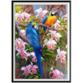 5D diamond painting tree on two blue parrot animal diamond inlaid embroidery DIY cross stitch home decorations new year gift