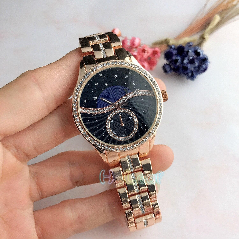 Luxury Pattern Brand Ladies Watches Hot Sale Lady Silver Gold Full Steel Quartz Watch Female  Black Clock Montre Femme Relogio