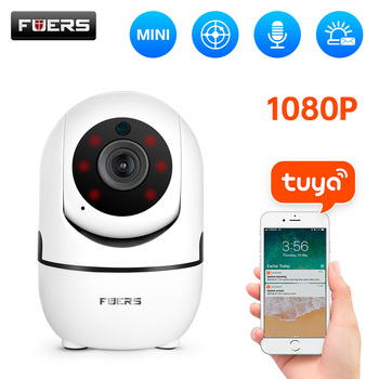 Fuers 1080P IP камера Tuya APP Детский Монитор автоматическое отслеживание комнатная камера безопасности камера видеонаблюдения беспроводная WiFi ка...