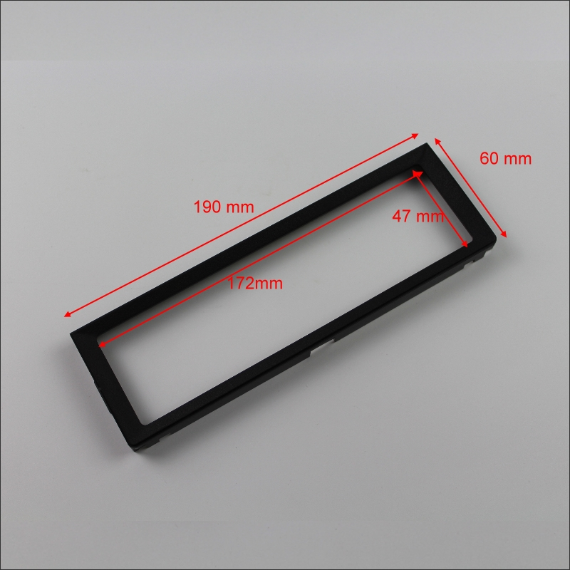 190mm * 60mm 1 דין ABS פלסטיק מסגרת פנל Fascias עבור Aftermarket רדיו סטריאו נגן DVD GPS ניווט התקנה