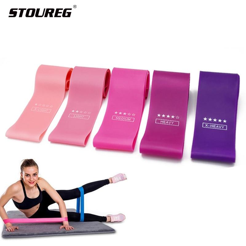 5 seviyeleri eğitim sakız egzersiz spor salonu gücü direnç bantları Pilates spor kauçuk Fitness bantları Crossfit egzersiz ekipmanları