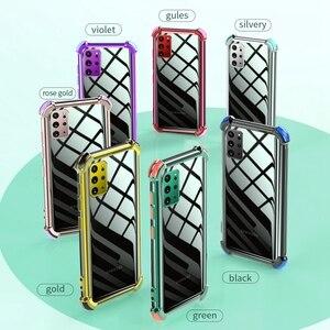 Image 5 - עמיד הלם סיליקון מקרה טלפון עבור Samsung Galaxy A50 A70 A51 A71 S20 FE S21 בתוספת S20 Ultra A32 A42 A52 a72 5G שקוף כיסוי