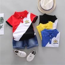 BibiCola Menino Roupas Conjuntos de Algodão Do Bebê Recém-nascido Do Bebê Verão T-shirt Tops + Shorts 2PCS Outfit Treino Criança Crianças Conjunto de Roupas