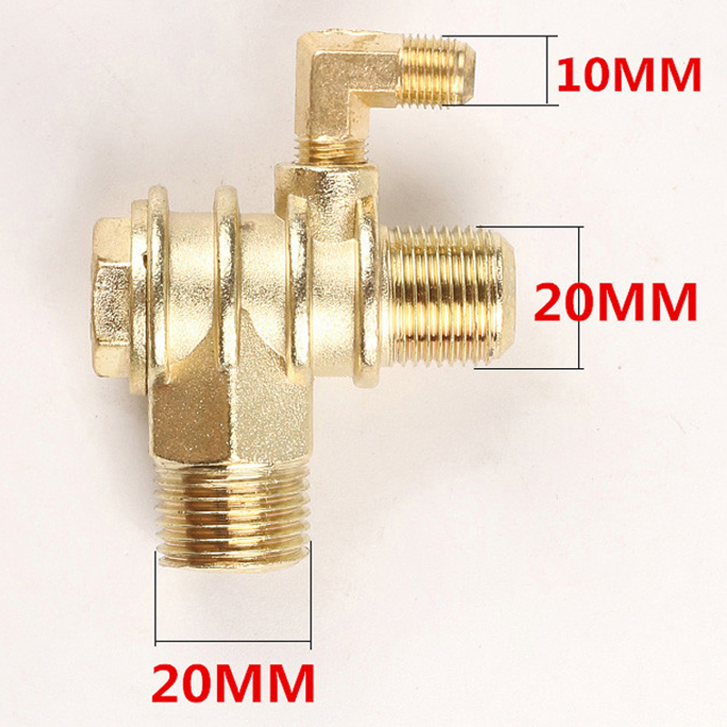Parts Check Valve Replacement Air Compressor Accessories 3-Port Male-Threaded Attachments Durable